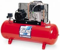 Профессиональный двухступенчатый компрессор с ременным приводом модель AB 100/670 пр-ль FIAC (Италия-Беларусь)